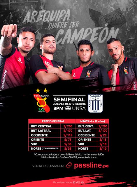 Melgar vs Alianza Lima semifinal