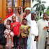 President Buhari meets with his children and grand children as he Arrives Aso Rock