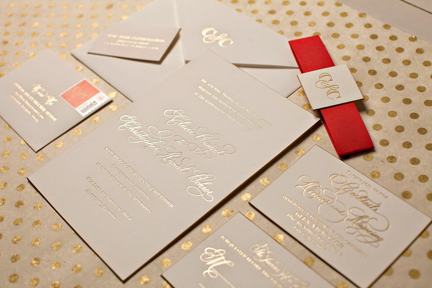 Elegant Monogram Wedding Invitations: Nico And LaLa: Elegant Winter Wedding