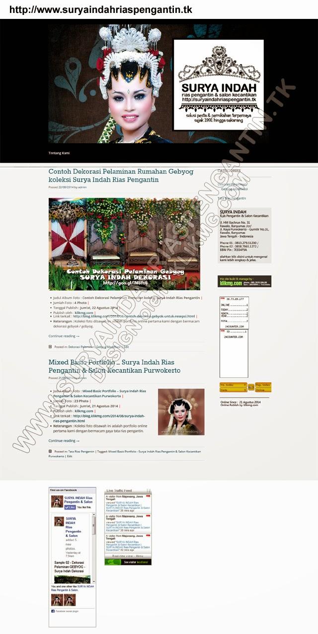 Situs Web : SURYA INDAH Rias Pengantin - http://wwww.suryaindahriaspengantin.tk Siap Akses sejak : 21 Agustus 2014