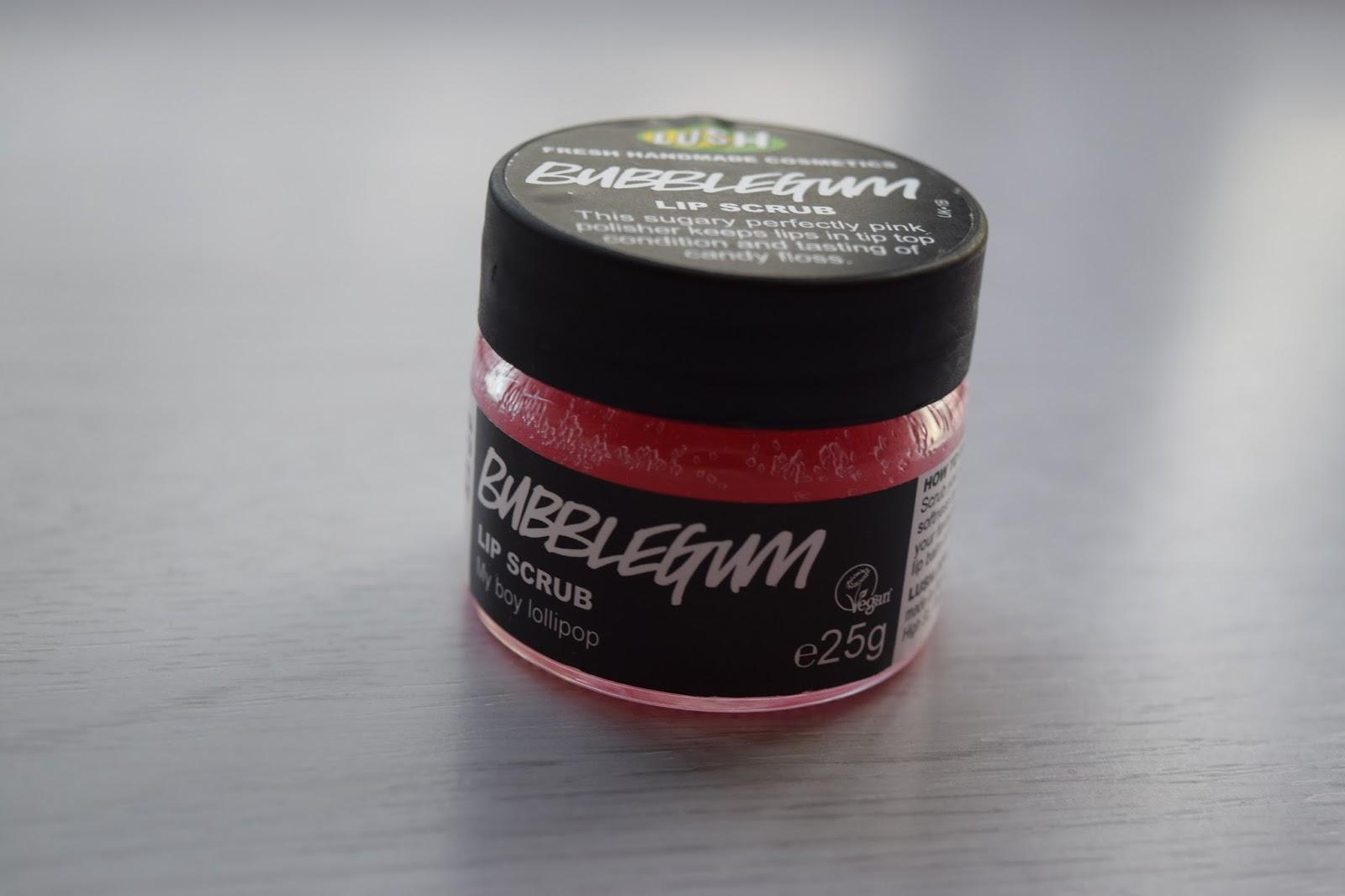 Bubblegum Lush lip scrub