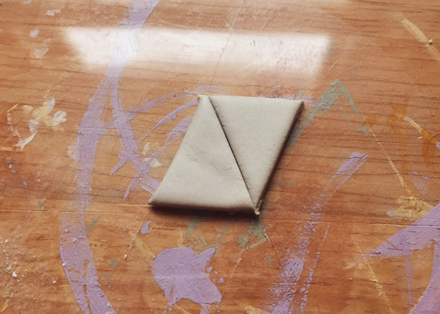 air-dry clay cut out triangles