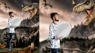 Dinosaur  Egg Thief Manipulation Editing| Picsart Editing Tutorial| Creatrive Manipulation Editing