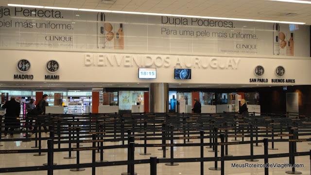 Imigração no Aeroporto de Montevidéu - Uruguai