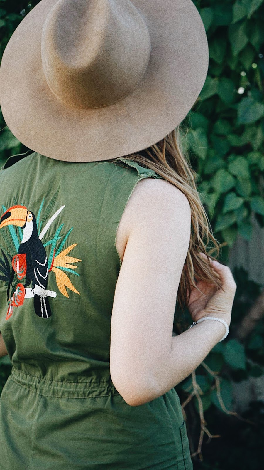 embroidered toucan