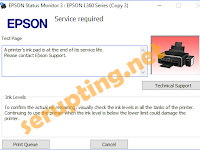 Mengatasi Error Printer ink pad is at the end of its service life Epson