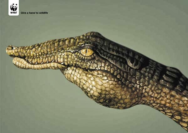 Guido Daniele, hand painting, bodypaint, WWF, publicidad