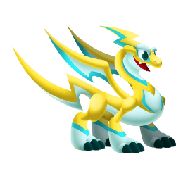 Appearance of Spark Dragon when adult
