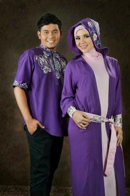 Model baju pesta batik muslim wanita sederhana casual modern