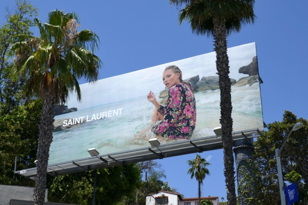 Kate Moss Saint Laurent beach billboard