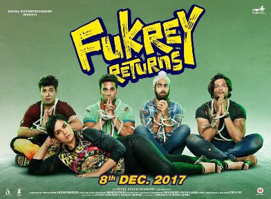 Fukrey Returns new upcoming movie first look, Poster of Pulkit Samrat, Richa Chadha, Varun Sharma, Ali Fazal download first look Poster, release date
