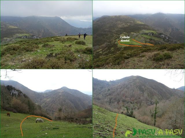 Senda del Chorrón y Foz del Río Valle: Bajando del Cantu Cobil a la Collada Abedul