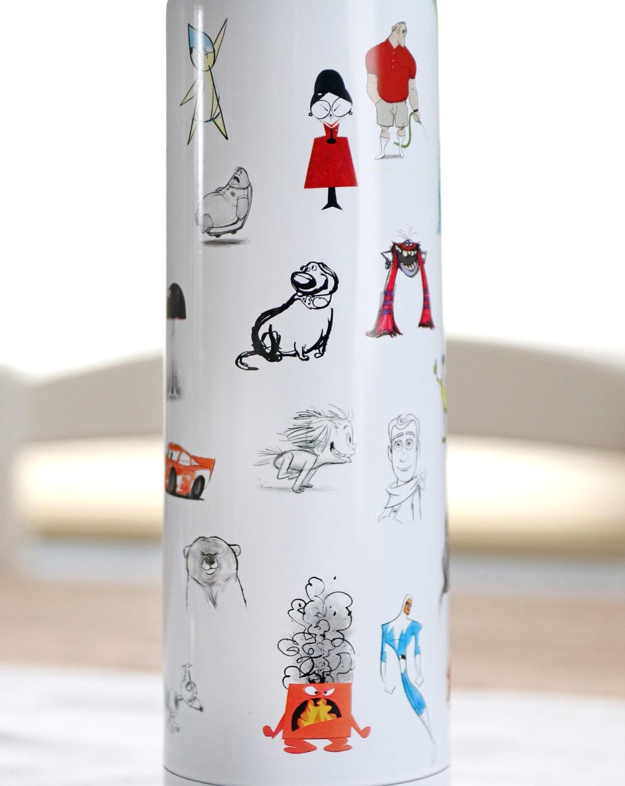 d23 expo pixar concept sketch art water bottle