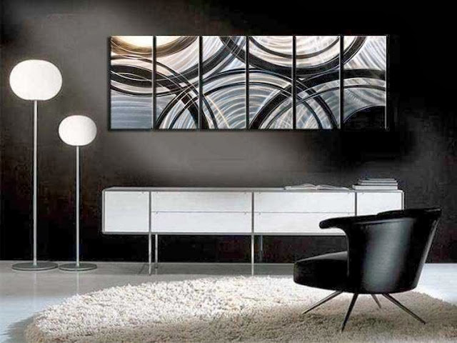 Home Interior Decorating with Modern Art