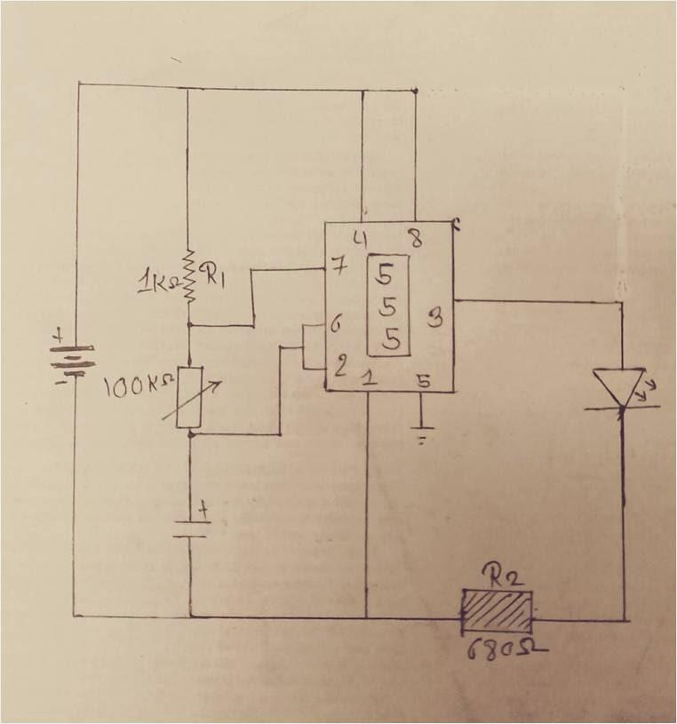 555 Monostable Circuit Diagram