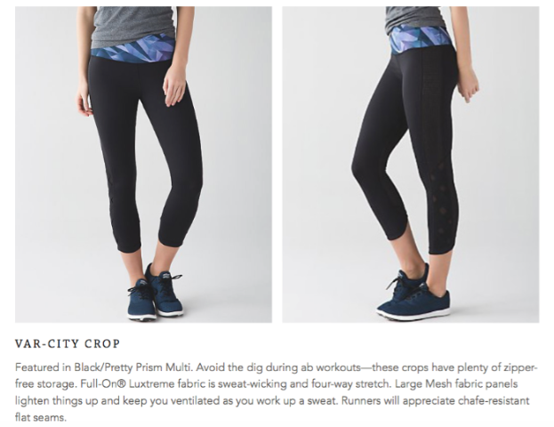 lululemon var-city crop