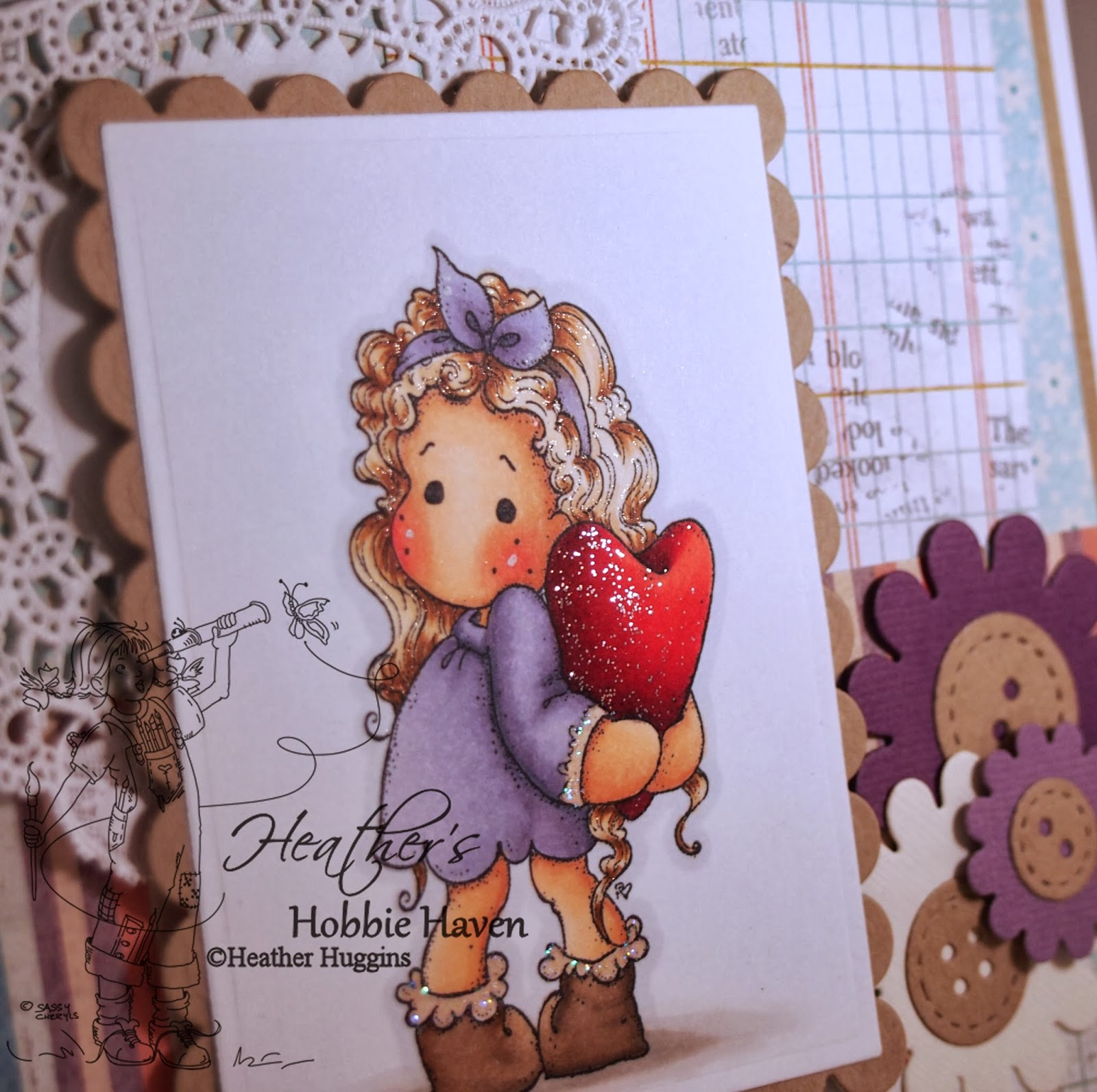 Heather's Hobbie Haven - Tilda Hiding Heart Card Kit