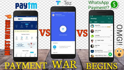 Payment Apps: WhatsApp vs PayTM vs Google Tez