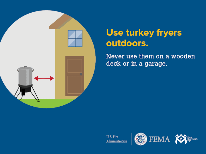 Weekly Tip - Take Care if Deep Frying a Turkey