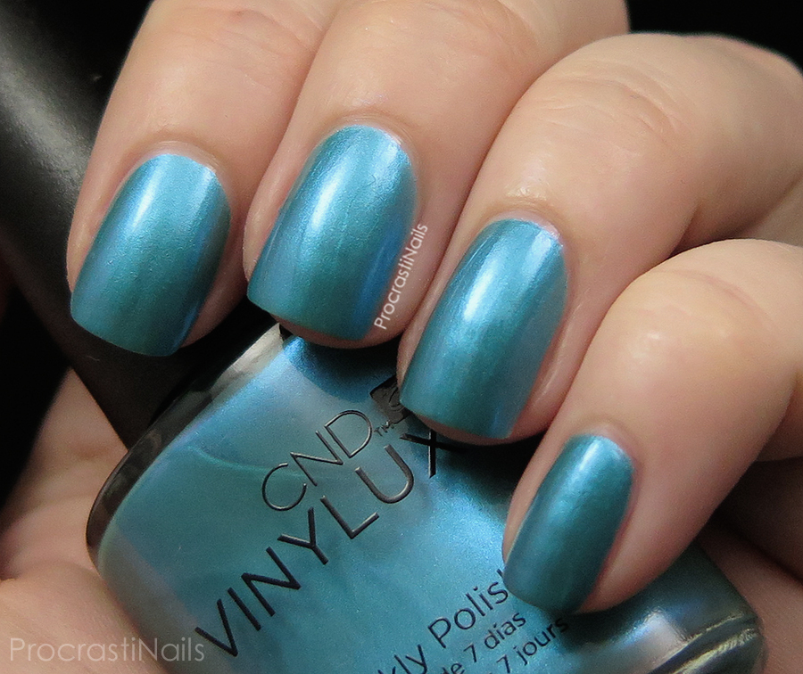 Swatch of Lost Labyrinth a teal mermaid shimmer nail polish