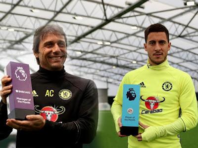 Situs Maxbet Online Terbaik 2016 - Chelsea Borong Penghargaan Pemain dan Manager Terbaik Bulan Oktober