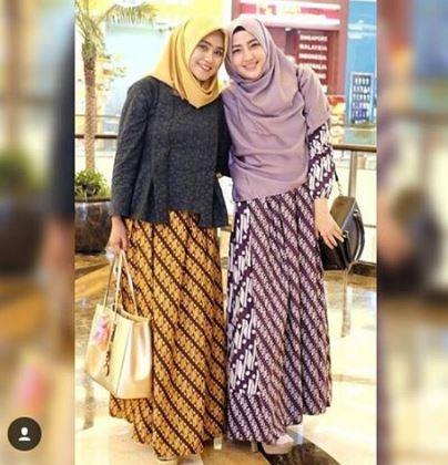 20 Contoh Model Baju Batik Pesta Modern 2018