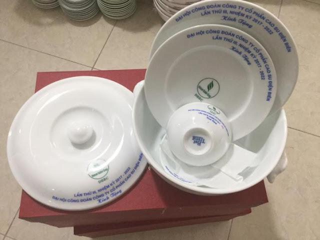 nhận in logo trên bát đĩa hàng gốm sứ bát tràng