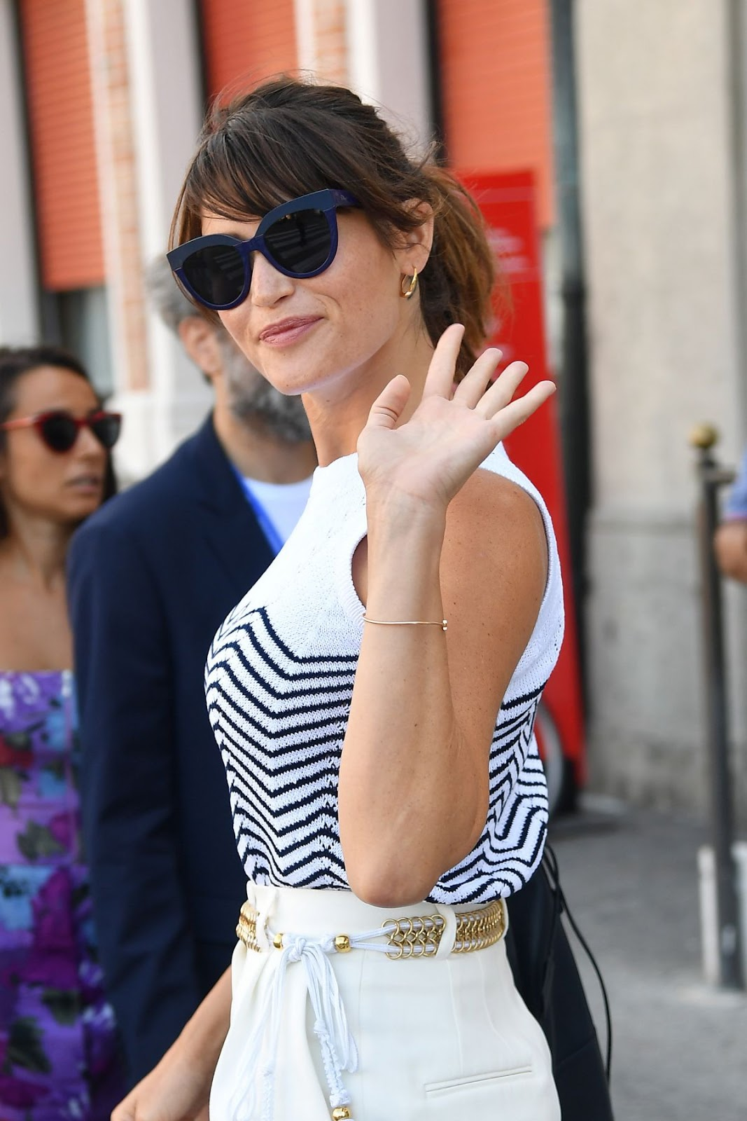 HD Images of Gemma Arterton Leaves Her Hotel Venice Film Festival In Venice