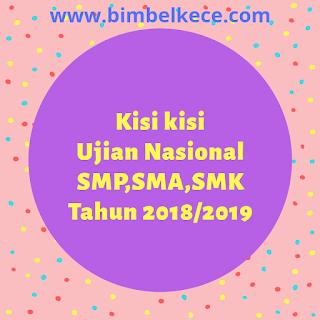 UNDUH KISI-KISI USBN SD, SMP, SMA ,SMK TAHUN 2018/2019