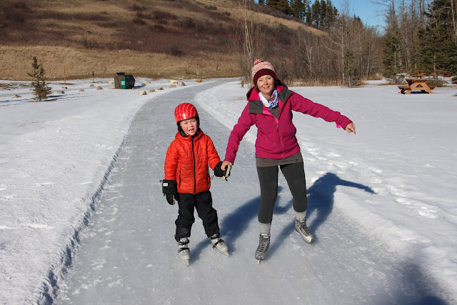 Family adventures in the canadian rockies winter fun in for Ice fishing cabins alberta