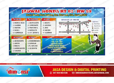 Download Contoh Spanduk Jadwal Ronda Coreldraw Dimensi