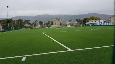 Torre vista campo da calcio