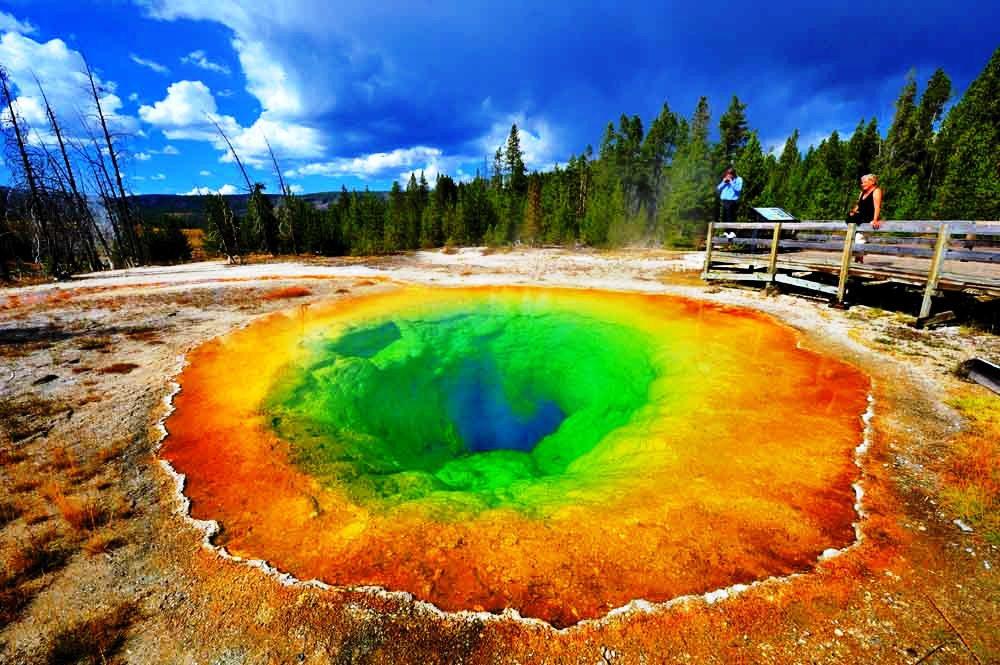 Beautiful Place Yellowstone National Park Usa