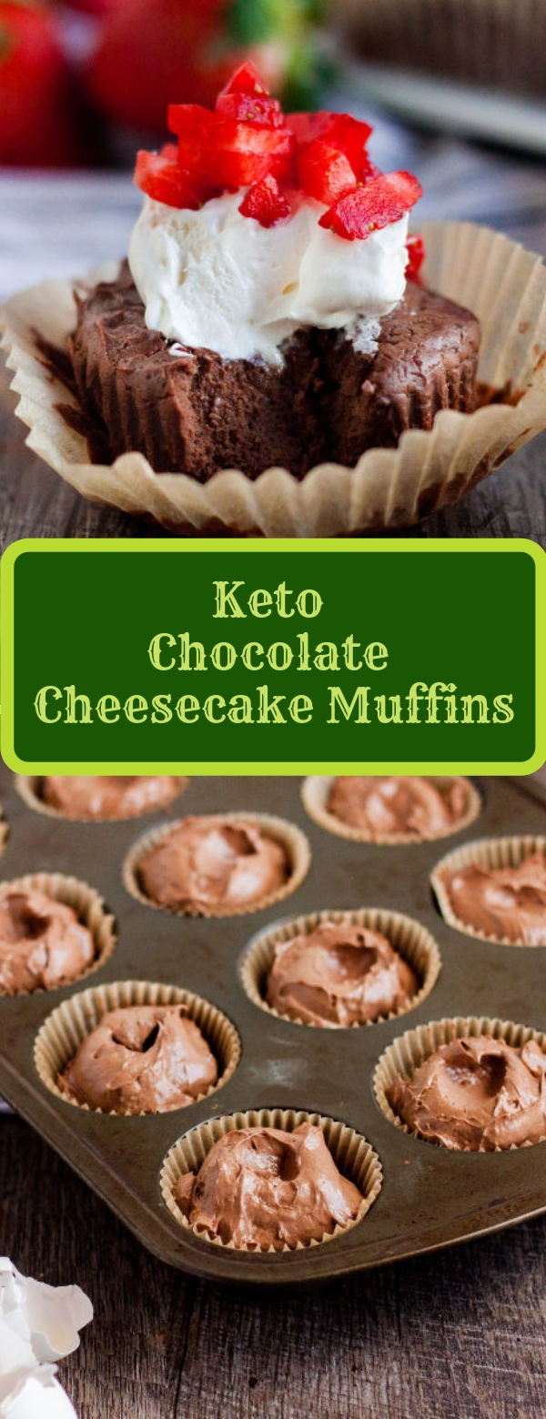 Keto Chocolate Cheesecake Muffins
