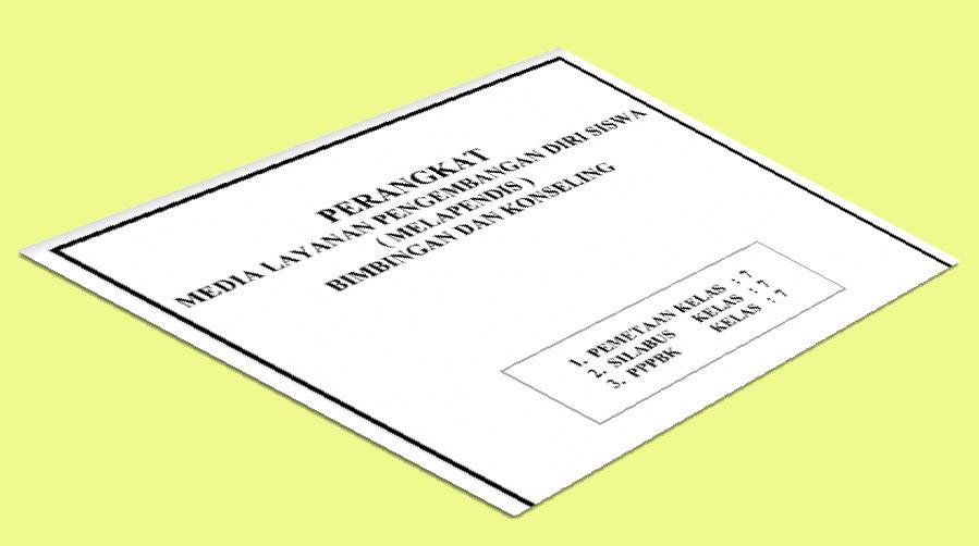 Perangkat Bimbingan Konseling SMP Kelas 7 Format Doc