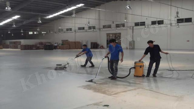 quy trình thi công sơn sàn epoxy chống trơn trượt