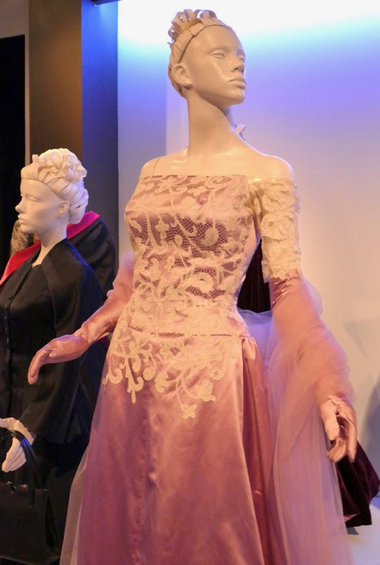 Phantom Thread Alma pink white lace gown