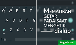 Mematikan getar keyboard android