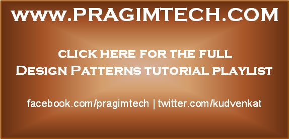 Design Patterns tutorial for beginners