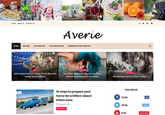 Averie Blogger Template