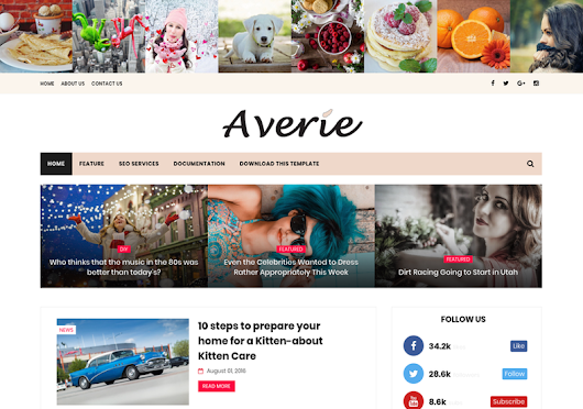 High Quality Free Blogger Templates: Averie