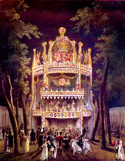 Vauxhall Gardens from The Microcosm of London (1808-10)