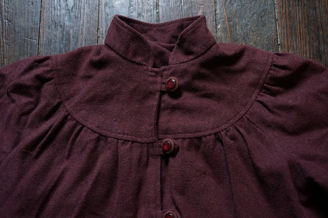vintage dark burgundy coat