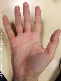 La M de la mano derecha