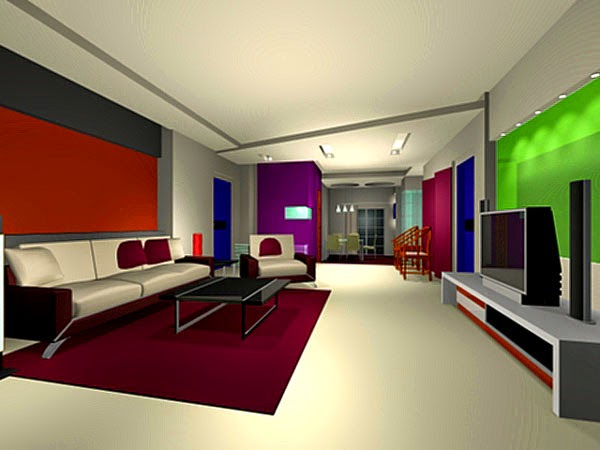 Great 3D Models Of Interiors In 3ds Max Software.