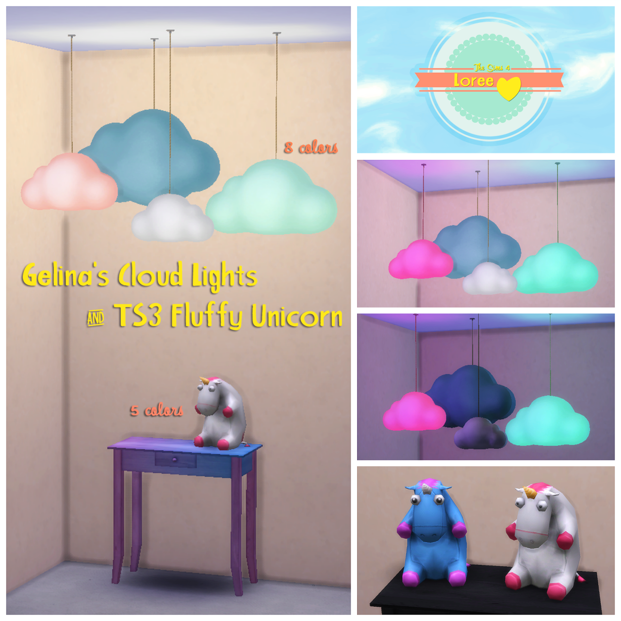 Horror Woonkamer My Sims 4 Blog Updated Ts3 Gelina Cloud Lights And