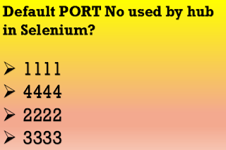 What is the default port number used by hub in Selenium?