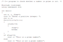 Cara Memeriksa Apakah Nomor Perdana atau Tidak di C++