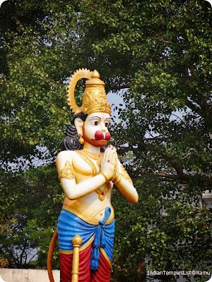 Lord Hanuman in Ananthagiri Hills
