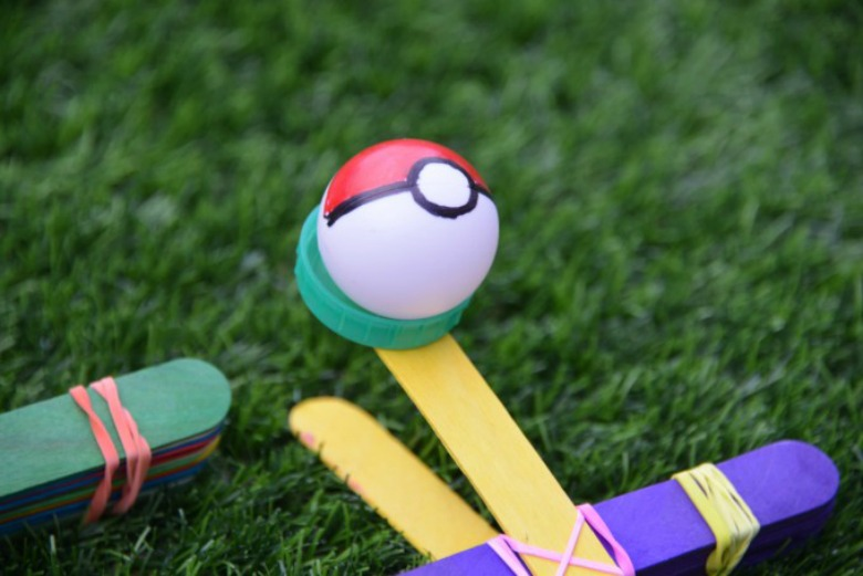 Pokemon catapult - Pokemon crafts for kids